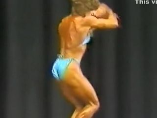 Antique woman muscle poser late 80s
