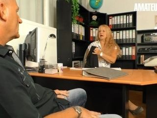 'AmateurEuro - German Mature Secretary Pussy Pounded In The Office'
