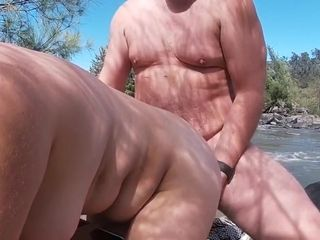 Unexperienced duo Risky Public naked Beach Rock fucky-fucky