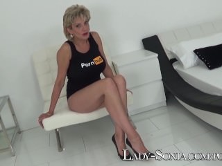 Lady Sonia official Pornhub channel launch - MILF jerk off instructions