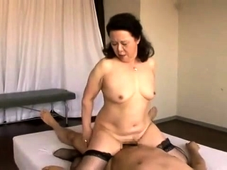 Inexperienced plus-size grandma pounded