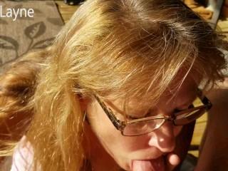 Mature Milf Deepthroats my Hard Cock, Swallows my Cum.