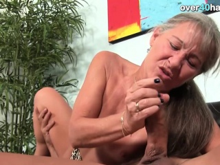 Old woman makes it blow high