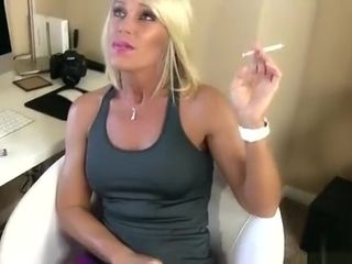 Erotic Nikki - Mom's BFF Smokes while Giving your first BlowJob - POV