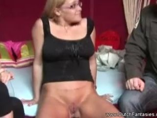 Dutch mother trains Nerdy Step daughter-in-law hook-up