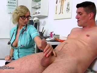 Mother Nurse Give Her Patient A lovely Ha - heavy-breasted