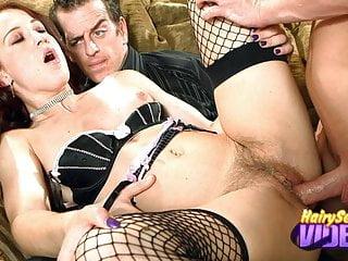 Latex Clad Cheyenne Jewel Hairy Pussy Jizz Ending