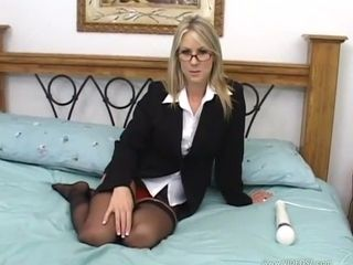 Gorgeous mature Carolyn Reese plays toys and fucks