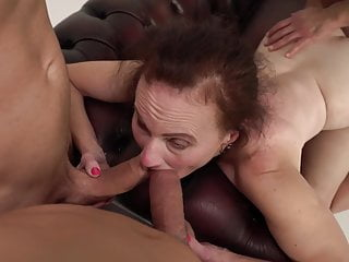 Mature wife gets crazy gangbang sex in front of cuckold