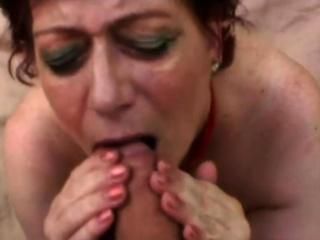 Georgette nasty elderly grandmother gobbles