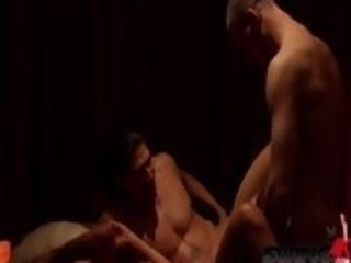Steaming platinum-blonde swinger wifey likes to demonstrates her tasty bosoms