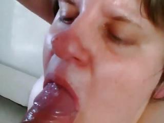 wonderful blowjob, no drop spilled