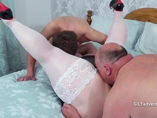 Premature Ejaculation With A Glasses Wearing Bbw And Bi Guy
