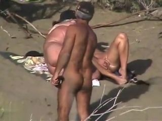 Mature unexperienced and his nymph are luving in outdoor intercourse