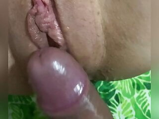 Having my pussy dick rubbed