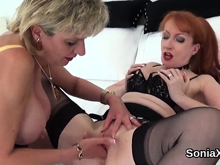 Hotwife brit mature doll sonia unveils her oversized boo