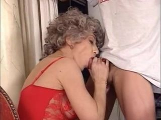 Younger man fuckin' 2 elderly girls in the backside