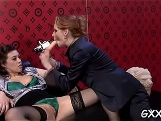 Attractive mature lezzy penetrates cum-hole with different fucktoys