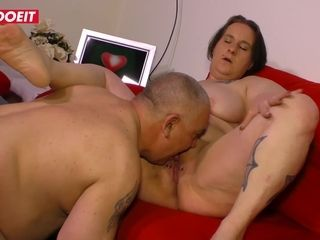 LETSDOEIT - enormous German grannie Picked Up And plumbed