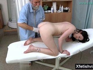My wifey And senior Bearded gynecology therapist
