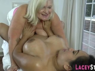 Senior british whore fingering chubby latina lady