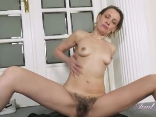 AuntJudys - Gerda Sweaty Workout Leads To Hairy Pussy P