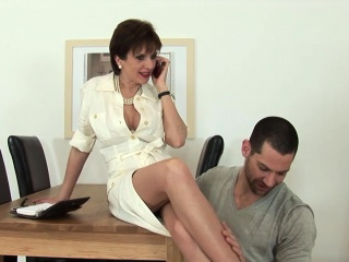 Daughter Sonia gets fucked unconnected with husbands staff member