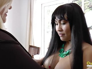 OldNannY Lacey starlet girl-girl Theme beautiful flick