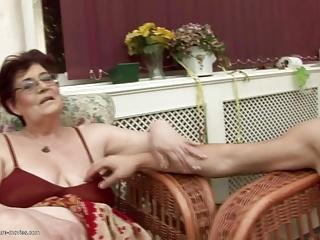 Grannies get gangbang and golden shower