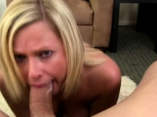 Blonde mature pov deepthroating
