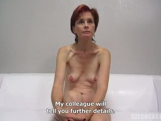 Diminutive titted cougar At the pornography audition