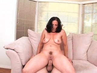 Natural horny mom slit banged to orgasm