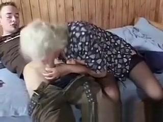 70yo ultra-kinky grandmother bj's youthful hard-on