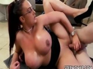 Mischievous milky whore very first time large melon stepmom Gets a rubdown