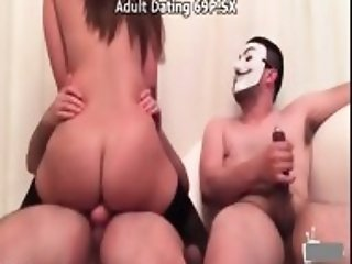wife rides a two penis