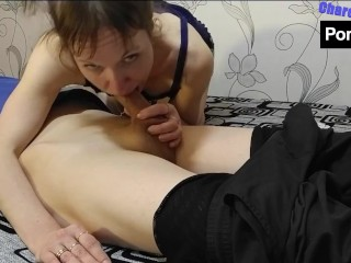 My stepmom missed my cock and sucked all my sperm. No editing!