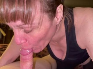 Friends Old Mom Enjoy's Sucking My Cock Dry And Showing Cum In Mouth And Swallowing