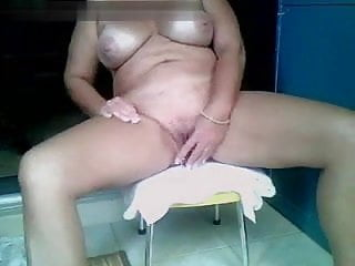 mom in the bathroom