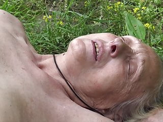 Grandmother tempted by youthfull naturist