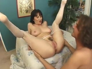 Brown-haired mommy getting a internal cumshot from her stepson