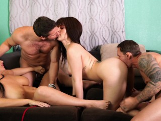 Two Milf Two Big Cocks Hot Orgy