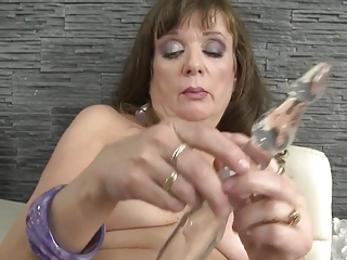 Real petite granny with old thirsty vagina
