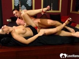 Seductive wifey gets a masculine pillar inwards of her
