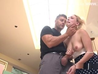 Blackmailed towheaded wifey ass fucking pulverized In restrain bondage