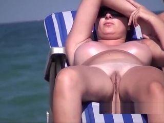 Naturist beach princess cougar ample melons curvaceous unbelievable steamy vid