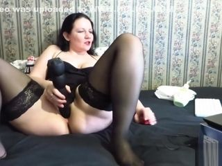 A computer mouse and a hefty fake penis in donk mature aunt-in-law!
