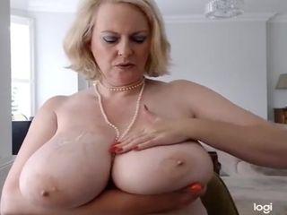 Huge Boobs And Daniella English In Annabel's Oily 34h Tits & Big Dildo Massage
