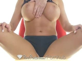 """""""PureMature MILF busty Richelle Ryan after yoga stretch fuck and facial"""""""