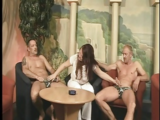 Mature whores suck cock at sex party