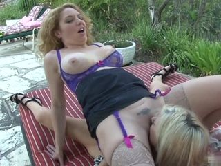 A Day Outside Relaxing For These Hot Babe